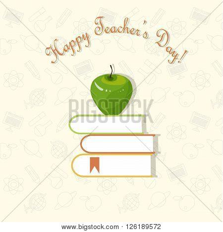 Typography banner Happy Teacher's Day, vector, design element