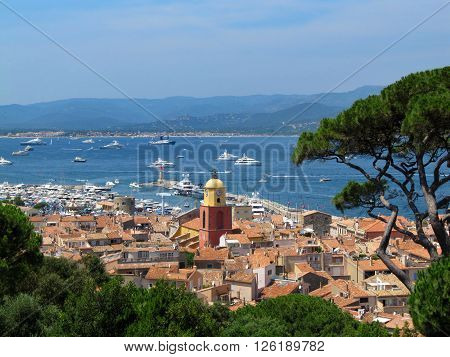 Beautiful View from The Citadel of Saint-Tropez, France / Panorama Saint Tropez France