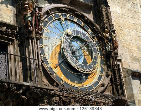 Detail of Astronomical Clock - Czech Republic, Prague, Old Town Square / Detail of Astronomical Clock- Czech Republic Prague Staromestske namesti