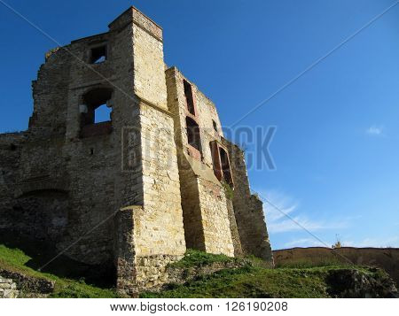 View of a Ruined Castle, Ruins Of The Boskovice Castle, Czech Republic