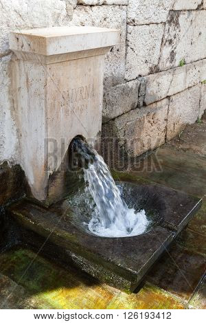 Ancient Potable Water Source In Ruined Temple