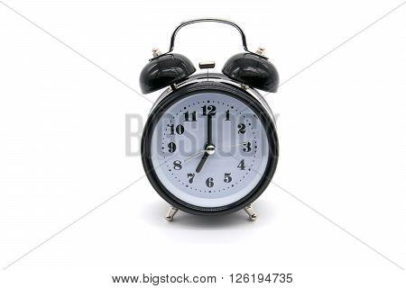 Alarm clock on white background. alarm, alert, antique,