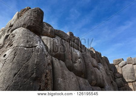 stone ruins of the ancient Inca fortress