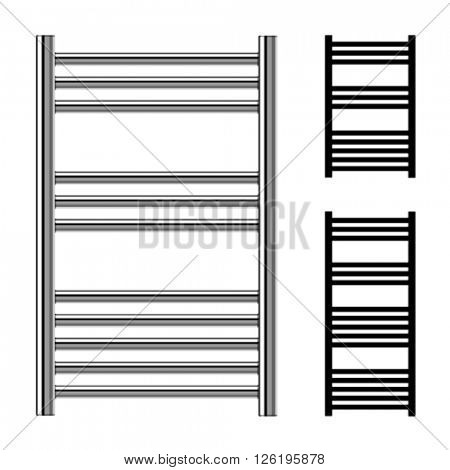 vector ladder towel rails bathroom central heating radiators