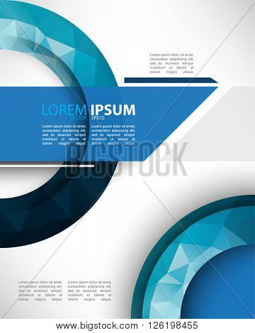 eps10 vector creative polygon elements marketing materials abstract template design