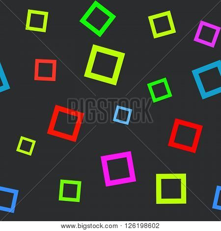 Simple seamless pattern with circles and rectangles. Usable as web background. Vector illustration.