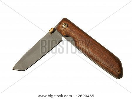Penknife On A White Background