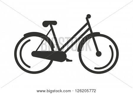Rickshaw indonesia jakarta taxi travel transportation icon flat vector illustration.