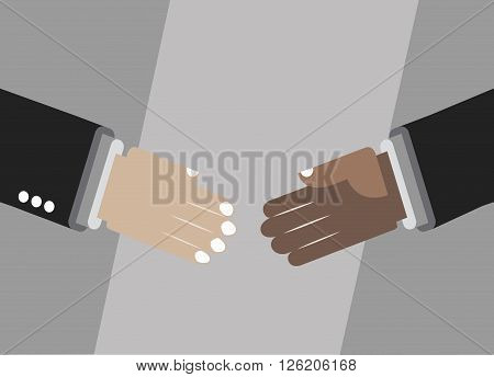 Shaking hands for deal, friendship or partnership