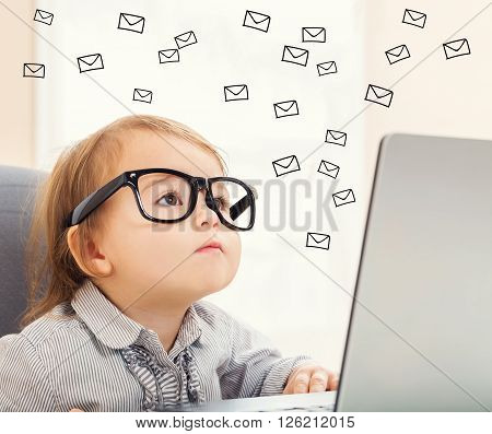 Email Concept With Toddler Girl