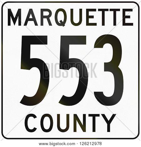 Image Of A Michigan County Route Shield - Marquette County