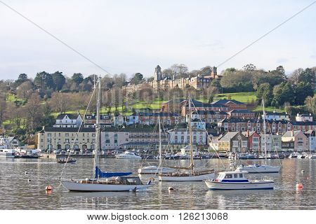 boats moored on the River Dart, Dartmouth