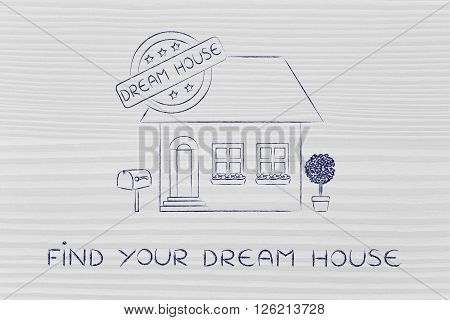 House With 5 Stars Rating Sign,find Your Dream House