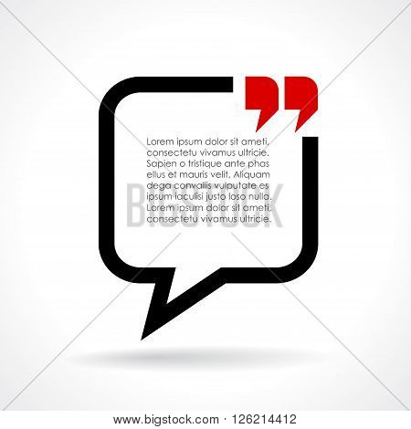 Dialog text bubble isolated on white background