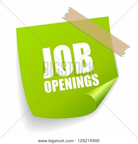 Job openings sticker isolated on white background