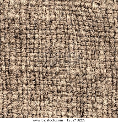 Natural Brown Textile Background / Canvas Fabric Textured Background.
