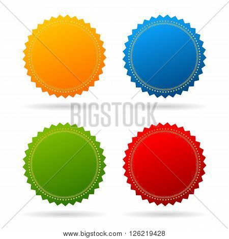Star seal certificate icons on white background