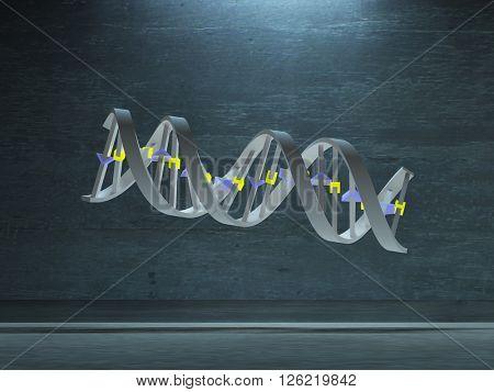 DNA Strand 3D Render