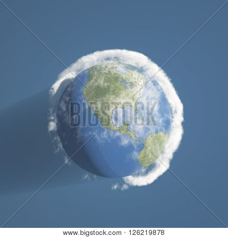 Earth and atmosphere 3D Render