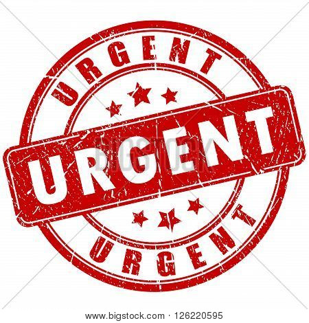 Urgent vector stamp isolated on white background