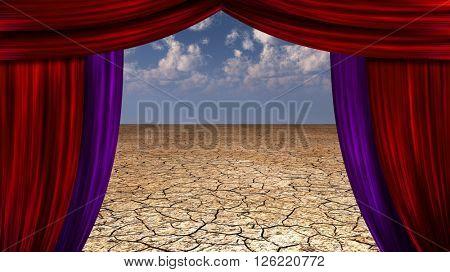 Desert Curtains 3D Render