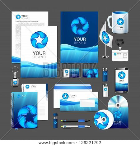 Corporate Identity Template Water Drop Brandbook Guideline