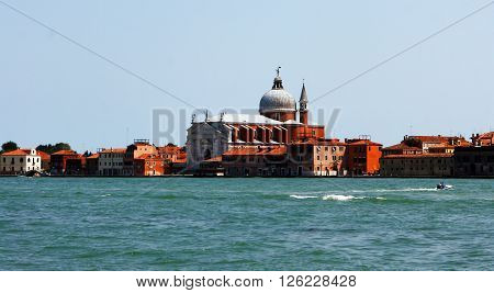 Venice. Italy - June 29, 2012 - St. George's Basilica. The streets and canals of Venice in 29 June, 2012 in Venice, Italy