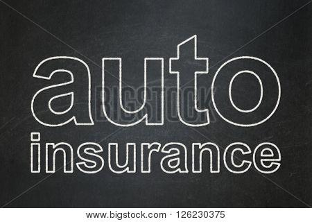 Insurance concept: Auto Insurance on chalkboard background