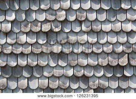 old gray wood shingles on a wall