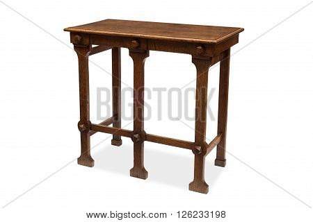 A Five-legged Antique Wooden Side Table