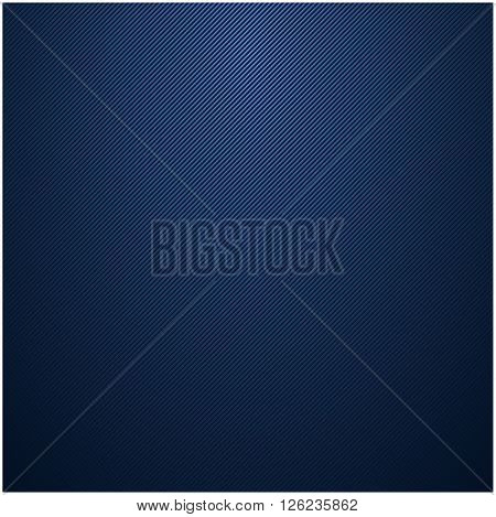 Blue vector striped texture. Metallic striped surface.