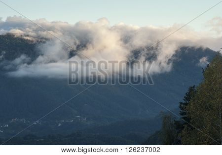 Clouds Above Mountain