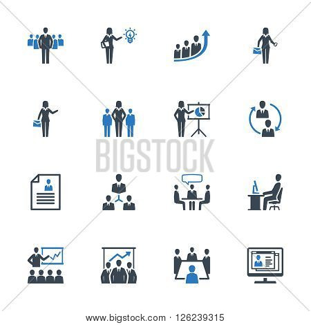 Business Management Icons Set 1 - Blue Series