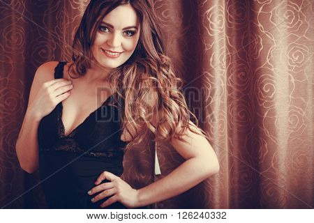 Portrait Of Sexy Sensual Young Woman In Lingerie.