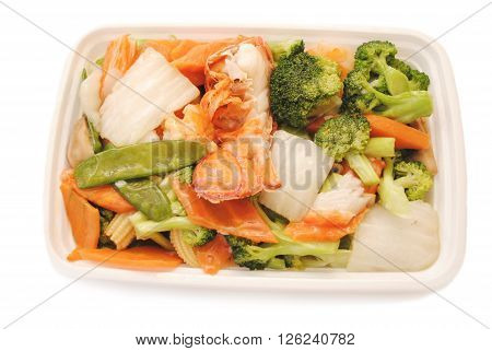 Chinese Takeout (American) - Seafood with Vegetables