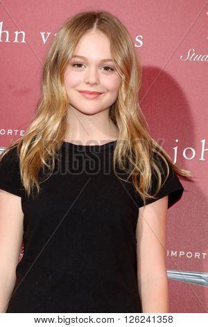 LAS VEGAS - APR 17:  Emily Alyn Lind at the John Varvatos 13th Annual Stuart House Benefit at the John Varvatos Store on April 17, 2016 in West Hollywood, CA