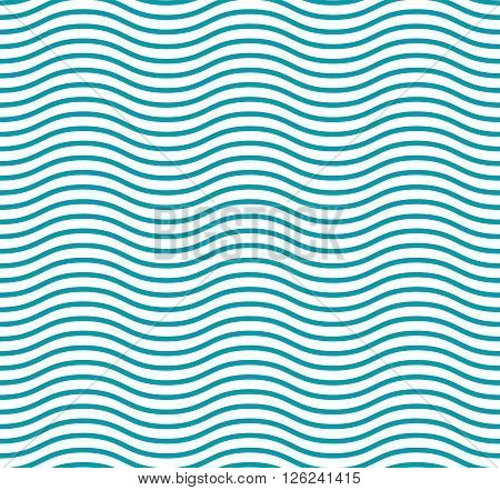 Fresh cute sea wave blue seamless pattern and a curved line for packaging paper