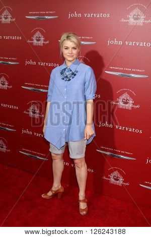 LAS VEGAS - APR 17:  Sarah Jones at the John Varvatos 13th Annual Stuart House Benefit at the John Varvatos Store on April 17, 2016 in West Hollywood, CA
