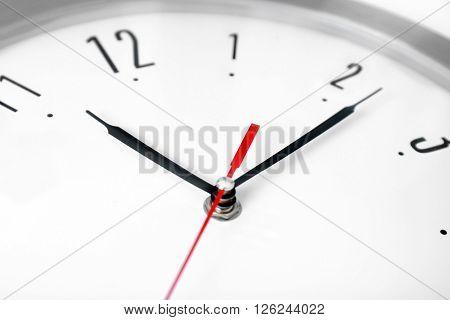 Round wall clock, close up