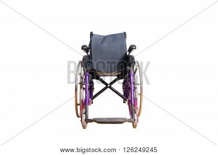4 wheel wheelchair for disposable people isolated