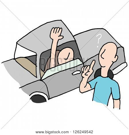An image of a Driver asking directions.