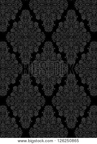 Vintage background, antique ornament, baroque old paper, backdrop  cover page. Floral luxury ornamental pattern template for design. Seamless pattern is in the swatches palette.