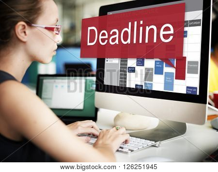 Deadline Appointment Final Time The End Countdown Urgency Concept