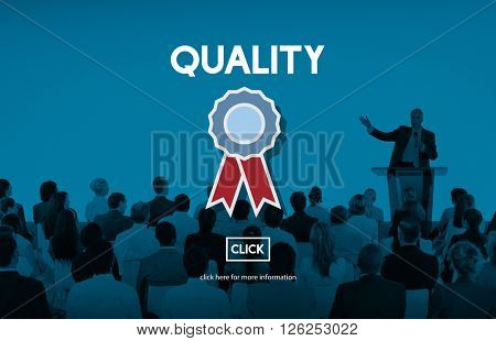Quality Service Best Guarantee Value Concept