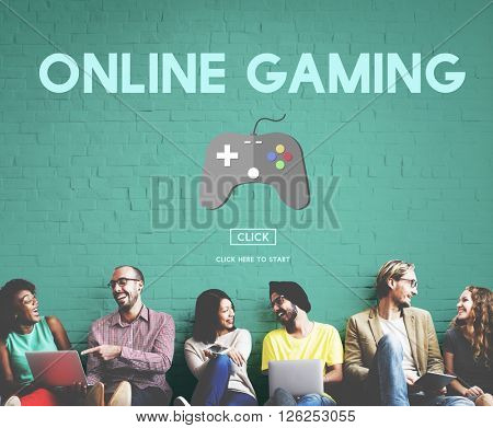 Online Gaming Playing Hobby Internet Strategy Concept