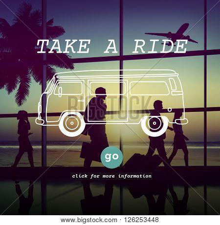 Take Ride Commuter Journey Metropolitan Motion Concept
