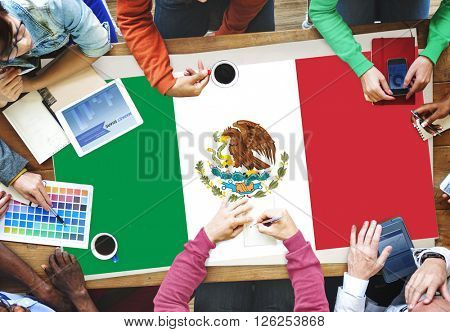 Mexico Country Flag Liberty National Concept