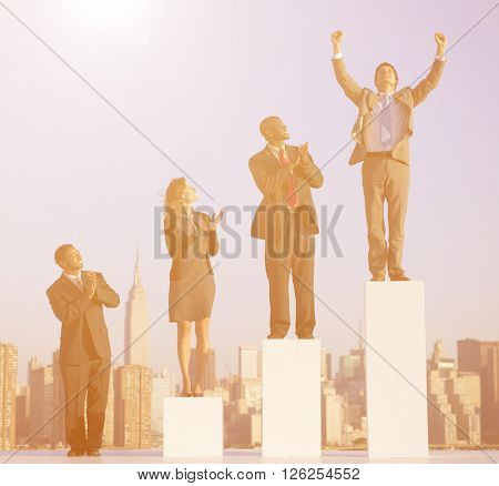 Successful Businessman in the City Concept