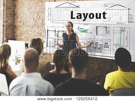 Layout Architect Construct Design Drawing Concept
