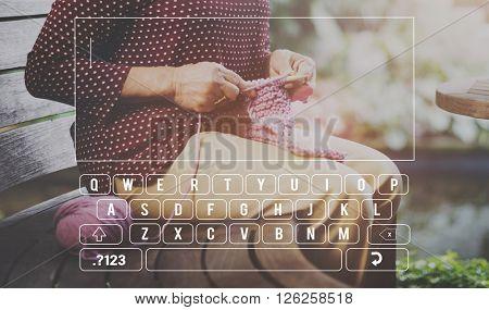 Keyboard Digital Alphabet Communication Input Concept